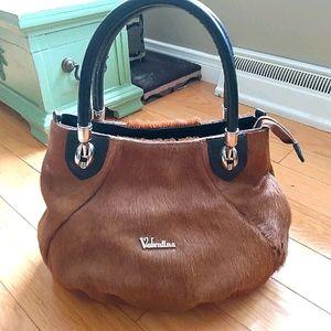 Valentina cowhide leather purse hardware handles
